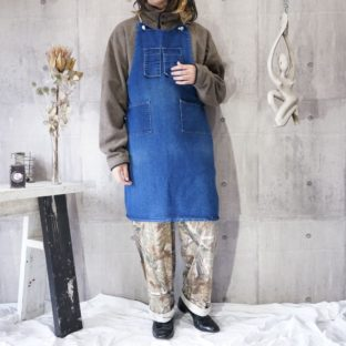 mulch pockets denim apron