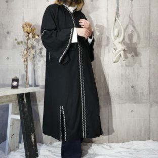 slit & line design maxi long robe