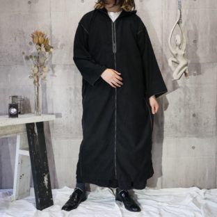 super long hooded pullover robe