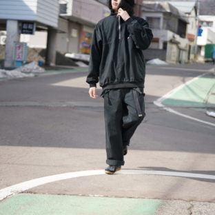 【Atozome】oversized half zip pullover sweat