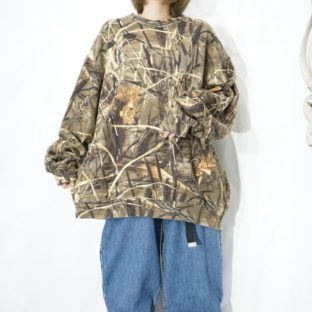 oversized real tree camouflage sweat *