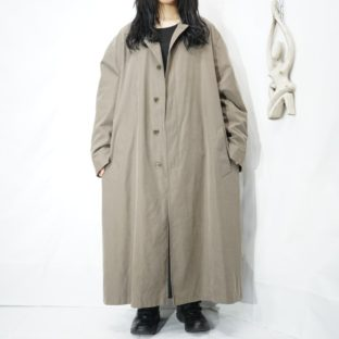 【NAUTICA】oversized khaki color balmacaam coat with liner *