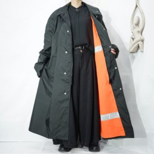 oversized reversible reflecter nylon coat