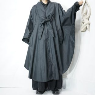 like scarf design long rubber poncho