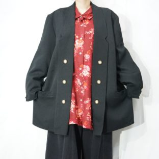 oversized design button haori jacket *