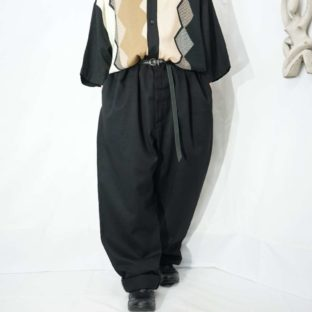 【Dickies】oversized black wide work pants *