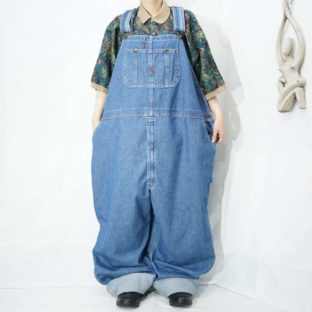 monster oversized denim overall *