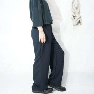 black navy toromi drape easy pants *