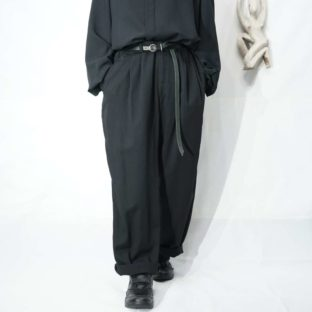 mode black toromi 3tuck wide slacks *