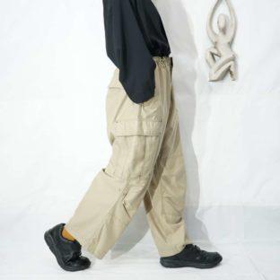 GAP olive beige drawcode wide cargo pants