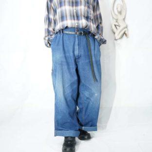 1980s BIG MAC wide denim work painter pants *