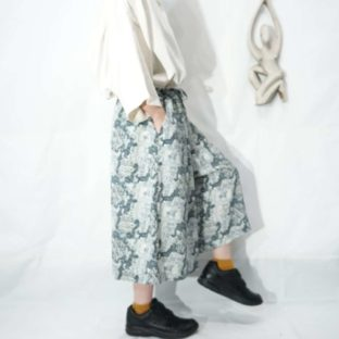 monotone 水墨画 design over pattern hakama shorts *