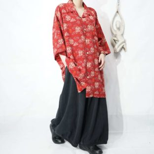 oversized 漢字 full pattern like China design shirt *