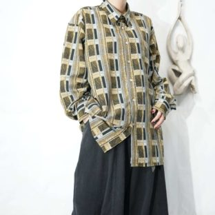 window on elegant pattern smooth touch shirt *