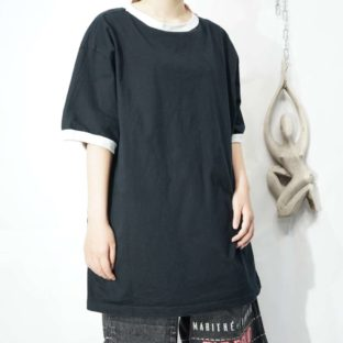 oversized black × white ringer tee *