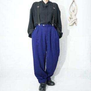deep purple 2tuck slacks with suspender