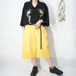 【RalphLauren】yellow wide shorts *