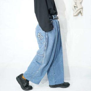 FUBU wide denim painter pants *