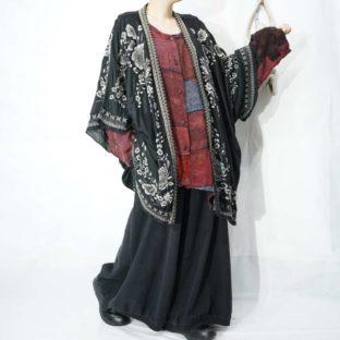 embroidery full flower pattern hem design haori *