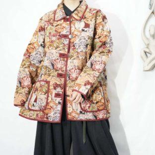 many many cats pattern Gobelin woven jacket *