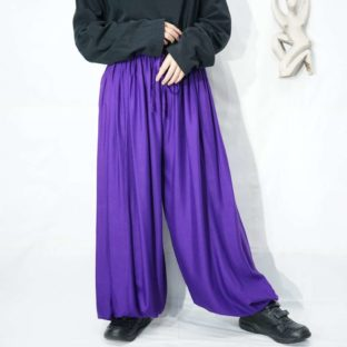 deep purple color balloon easy pants *