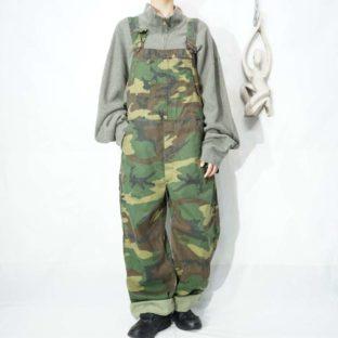 oversized woodland camouflage overall *