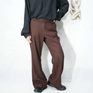 chocolate brown good silhouette flare pants