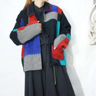 asymmetry tsugihagi switching jacket *