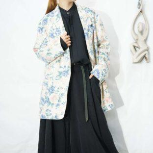 off white base multi flower pattern easy jacket *