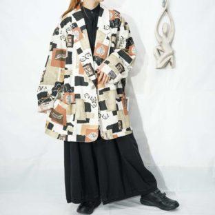 oversized ennui art pattern easy jacket *