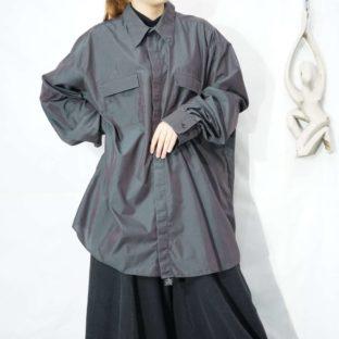 oversized iridescent dark gray shirt