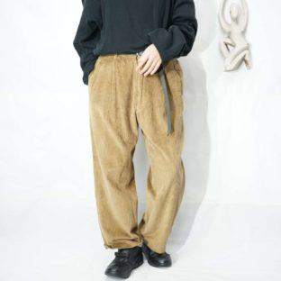 camel brown wide wale 2tuck corduroy pants *