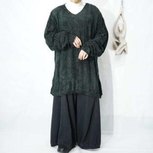 oversized velours like pile knit *