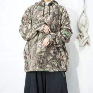 oversized realtree camouflage fleece parka *
