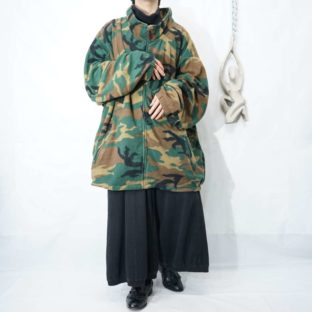 【KING SIZE】monster oversized camouflage pattern fleece jacket *