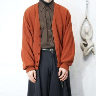 old terracotta brown color cardigan *