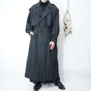 shrink cloth nylon long coat *