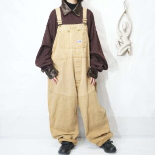 oversized camel color work duck wide overall *