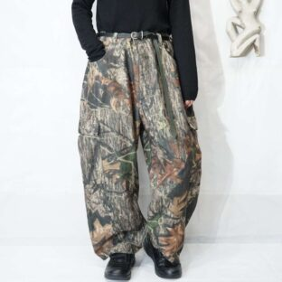 realtree camouflage fleece wide cargo pants *