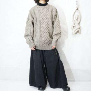 greige color fisherman knit *