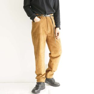beautiful brown suede leather pants