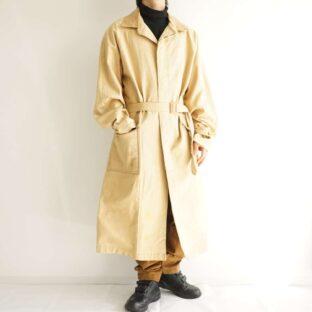 oversized leather switching dack work coat