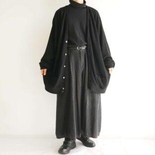 oversized XXXXLT black loose cardigan
