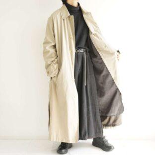 【NAUTICA】oversized maxi long balmacaan coat with lining