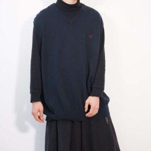 CHAPS oversized XXXLT black cotton knit vest