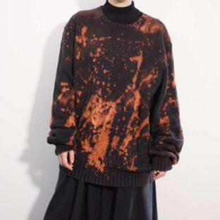 【RalphLauren】tsukigasa original bleach remake cotton knit