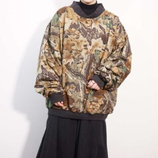 oversized realtree camouflage poly pullover