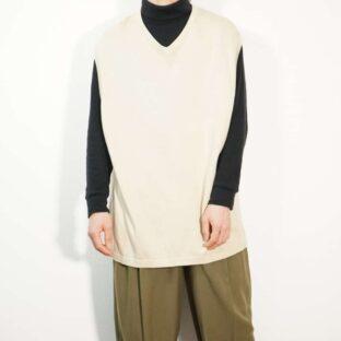 oversized creamy white knit vest