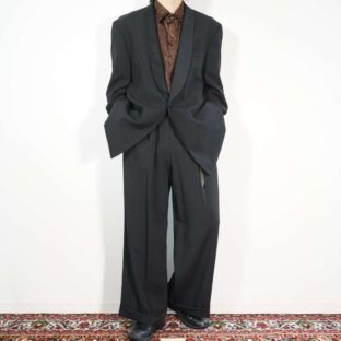 mode black tuxedo tailored jacket