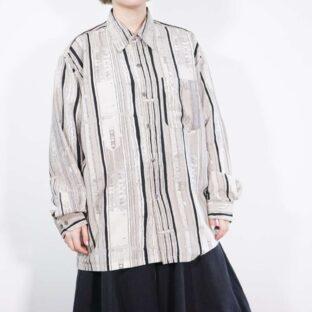 high contrast monotone stripe shirt